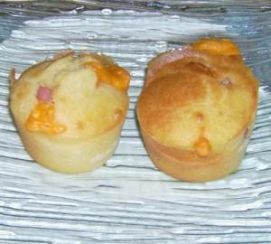 Muffins jambon/mimolette